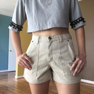 Vintage High Waisted Khaki Shorts